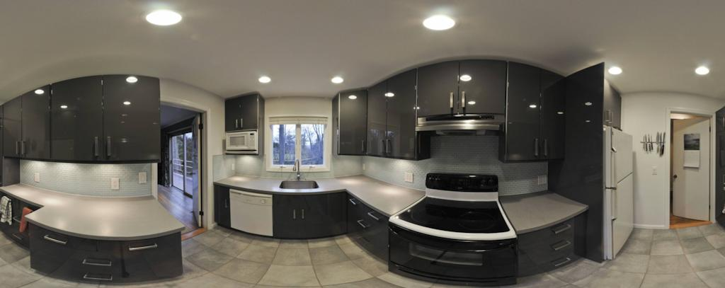 Kitchen renovation panorama